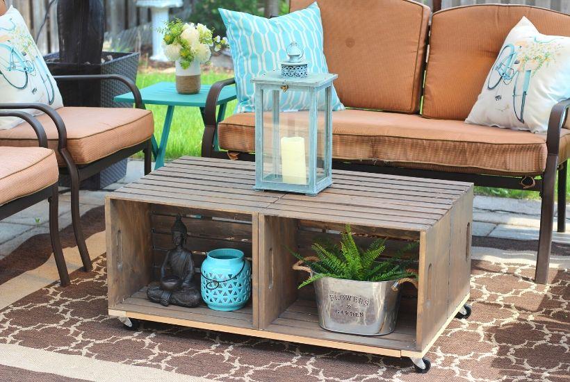 diy crate coffee table DIY