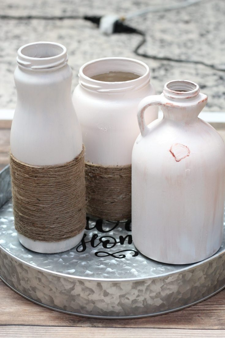 farmhouse painted jars