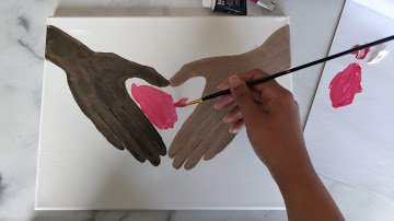 diversity art two hands
