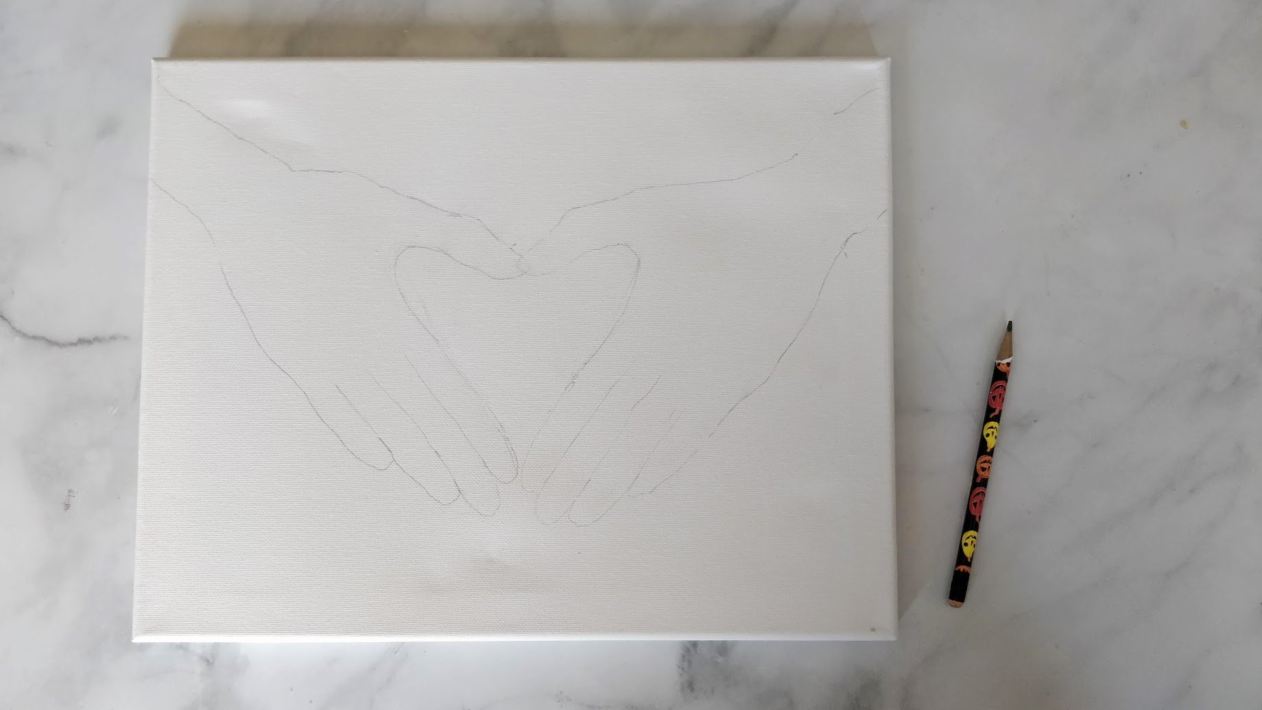 diversity painting tracing hand shape