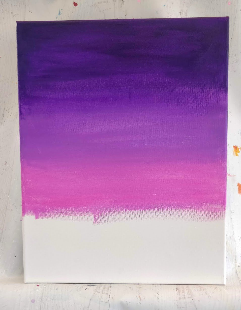 how to paint a pink sky acrylics