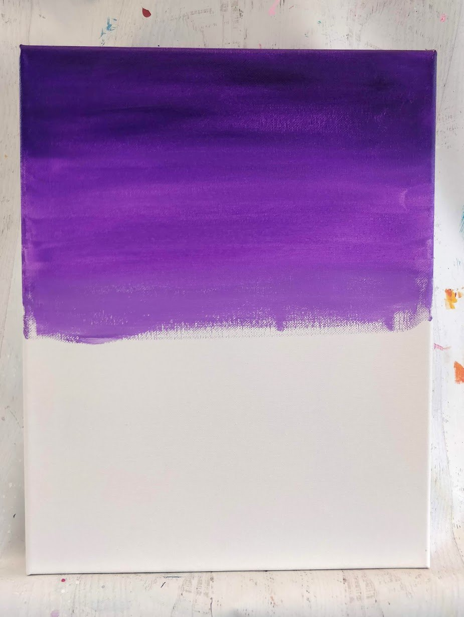 how to paint a sky purple