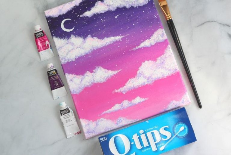 How To Paint Clouds With Acrylic Paint the Easy Way!