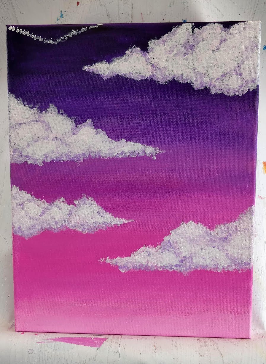 how to paint cumulus clouds