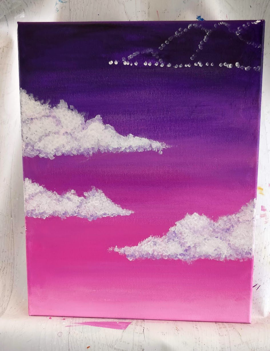 how to paint lavender clouds