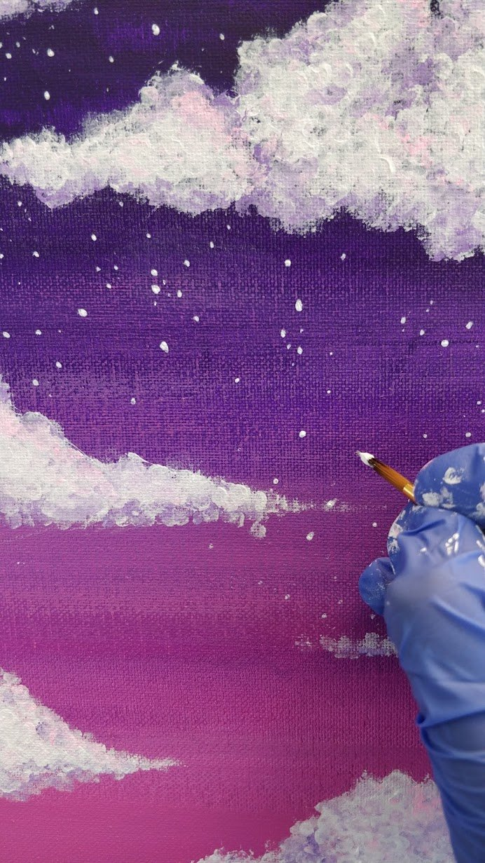 how to paint stars sky acrylics