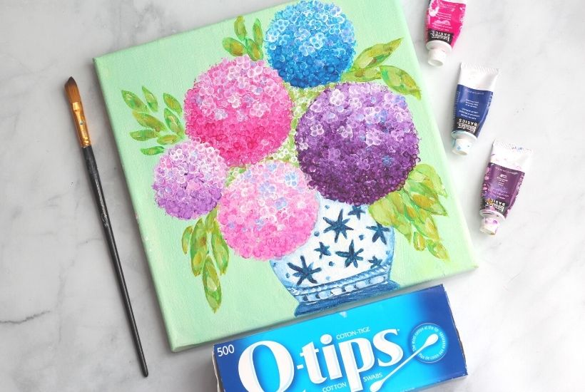 How to paint hydrangeas (1)
