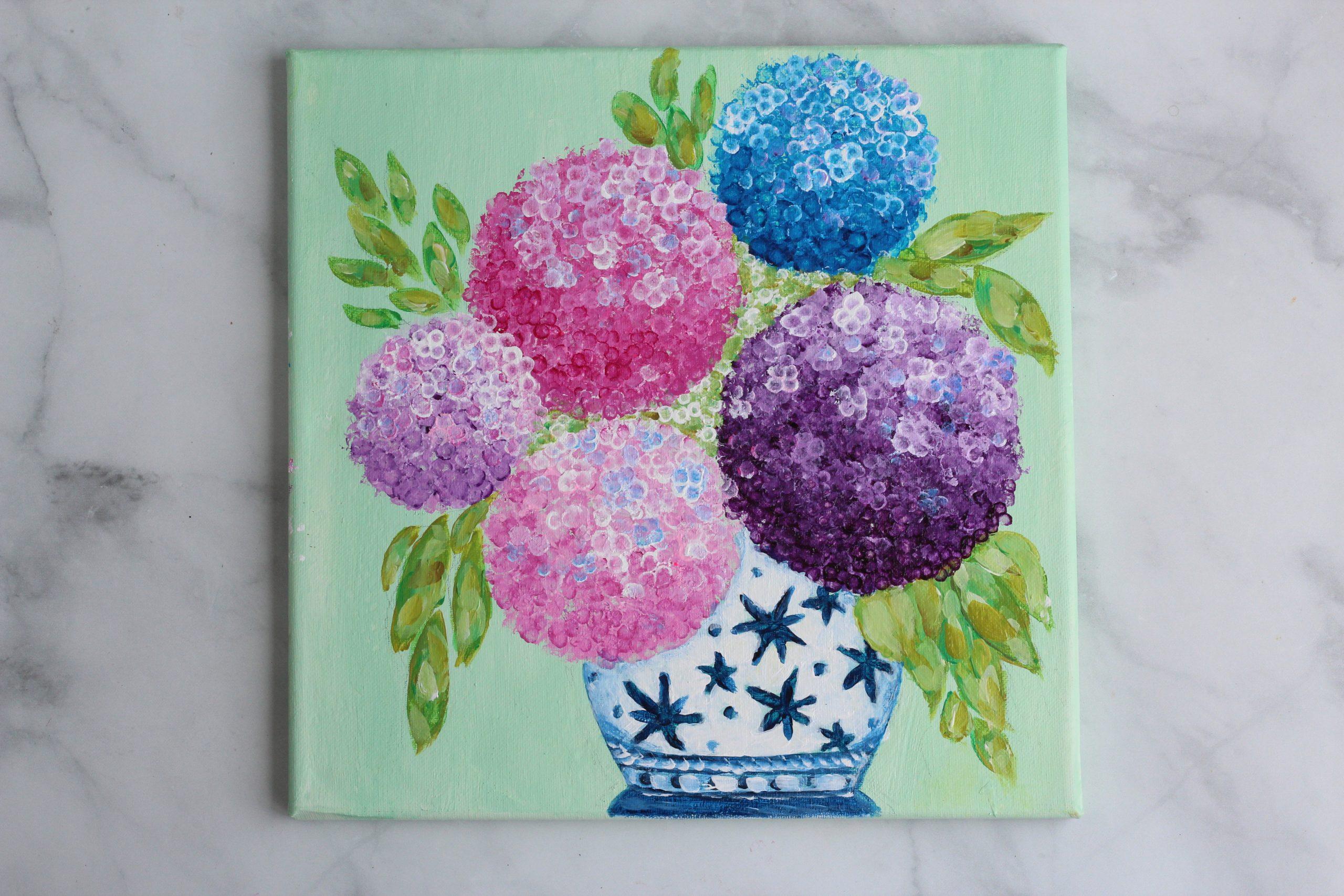 Hydrangea painting complete