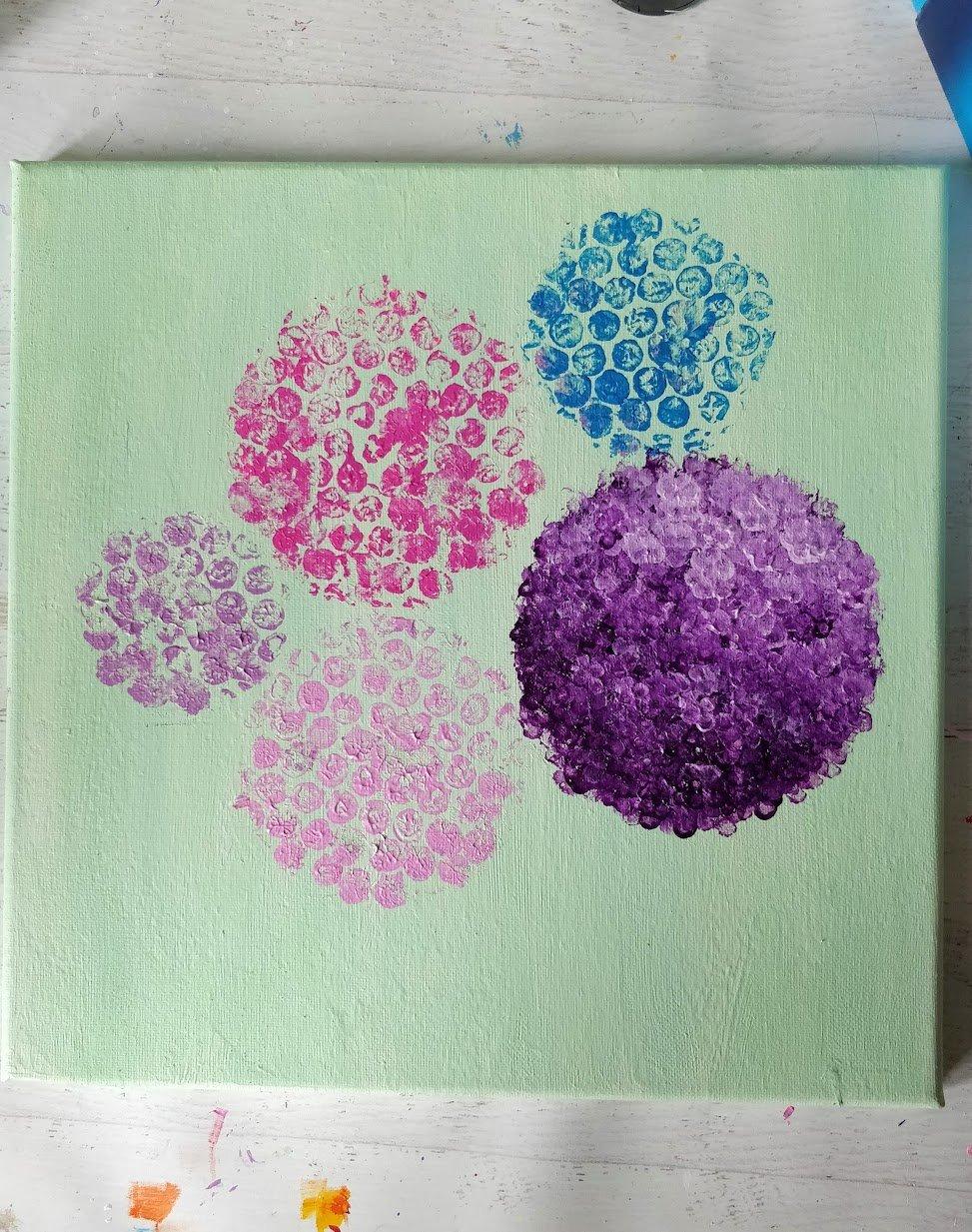 hydrangea acrylic paint purple
