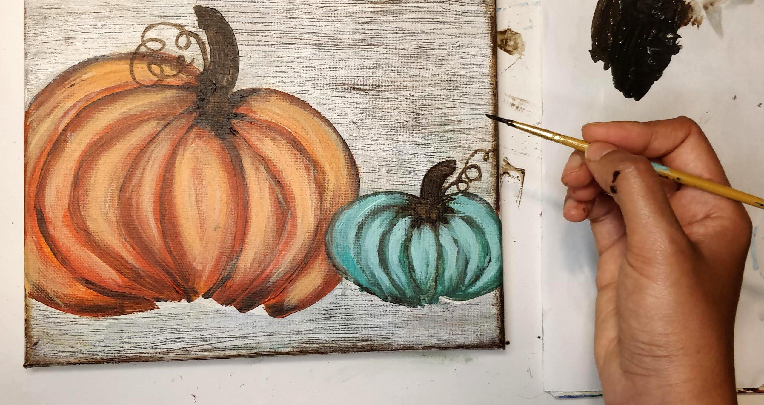 how to paint a pumpkin