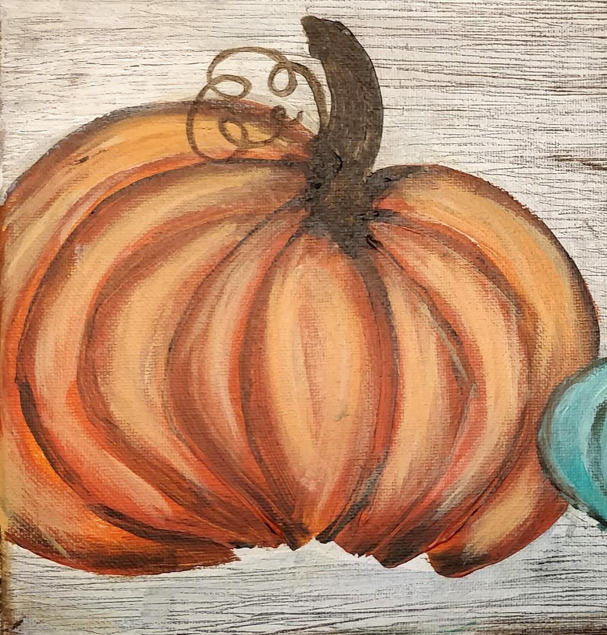 how to paint an orange pumpkin