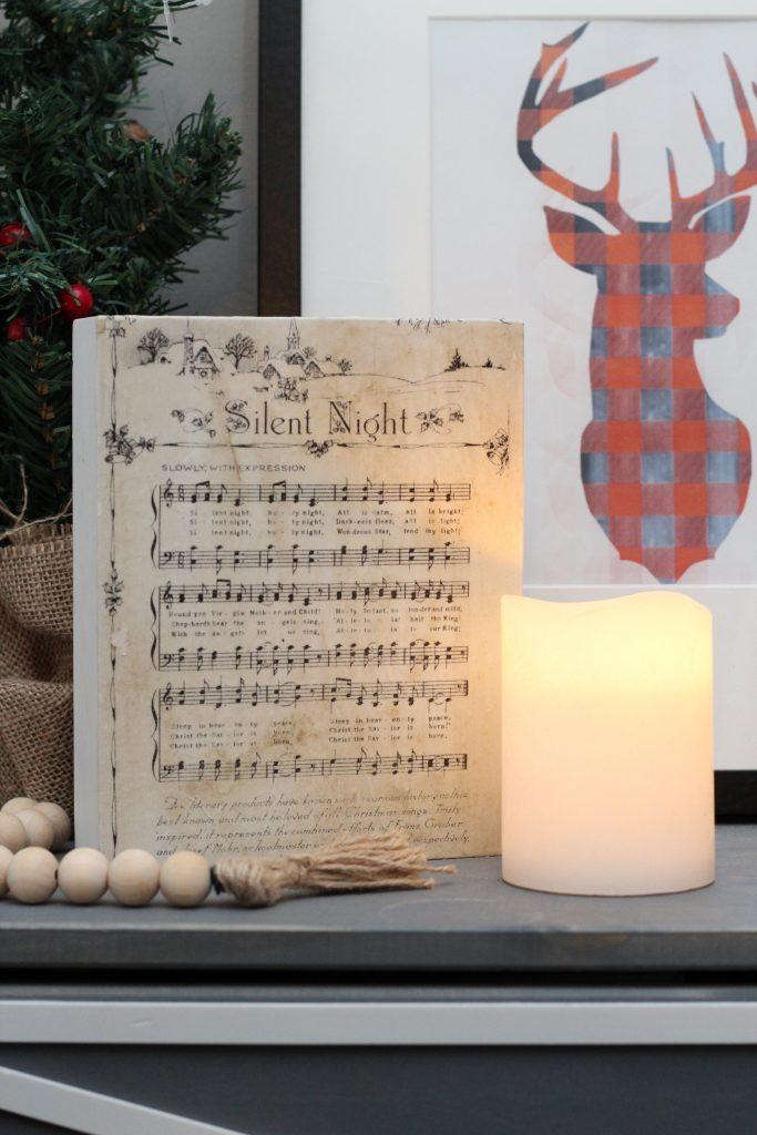 DIY vintage sheet music art