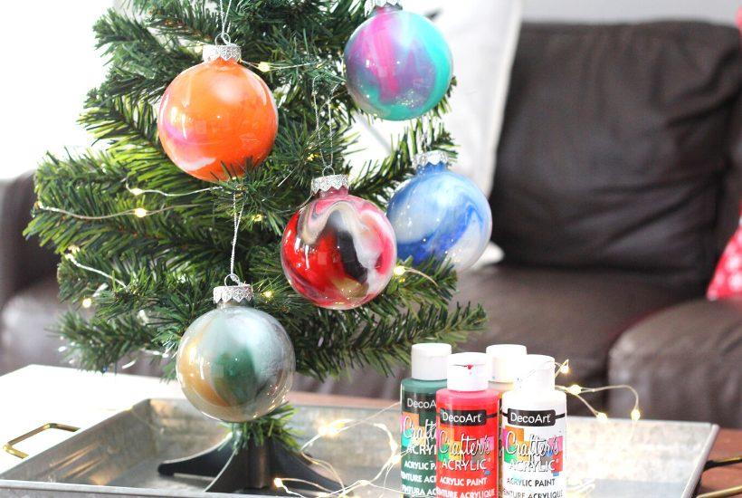 diy ornament balls painted