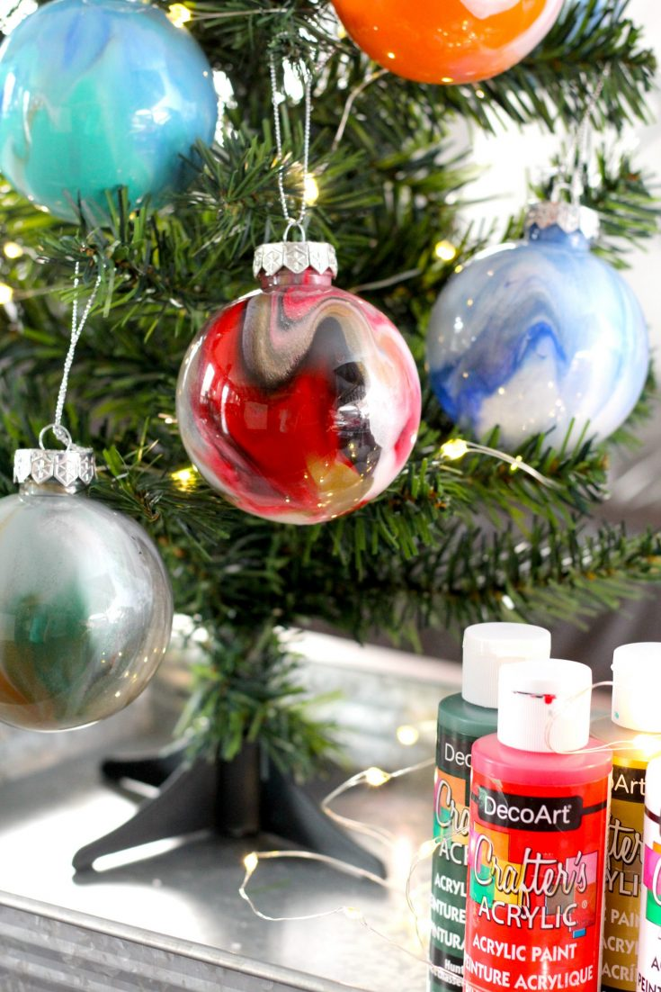 diy painted ornament balls dollar tree