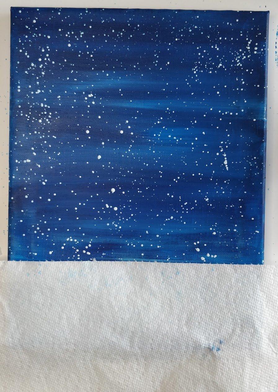 christmas painting night sky stars
