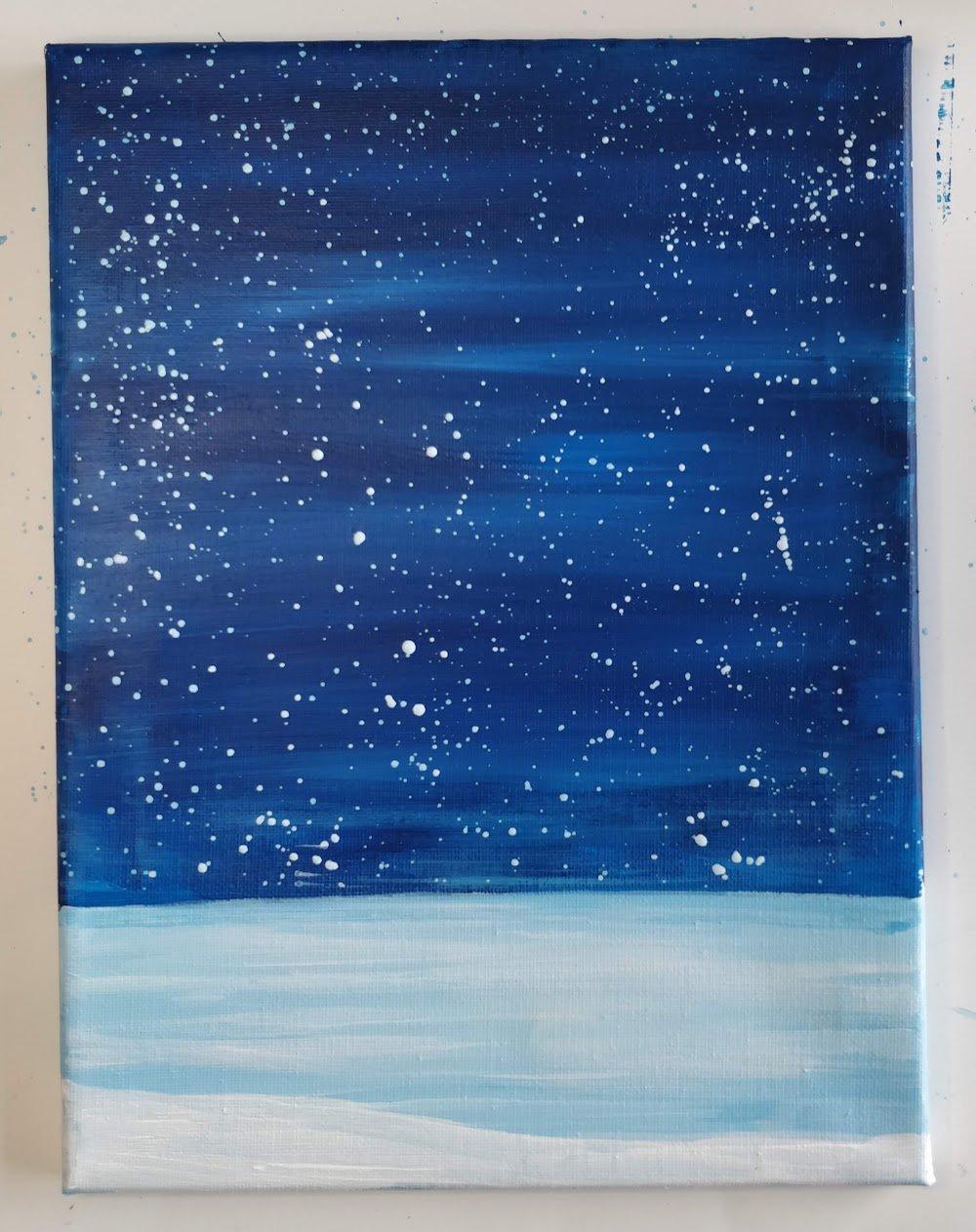 christmas painting stars night sky