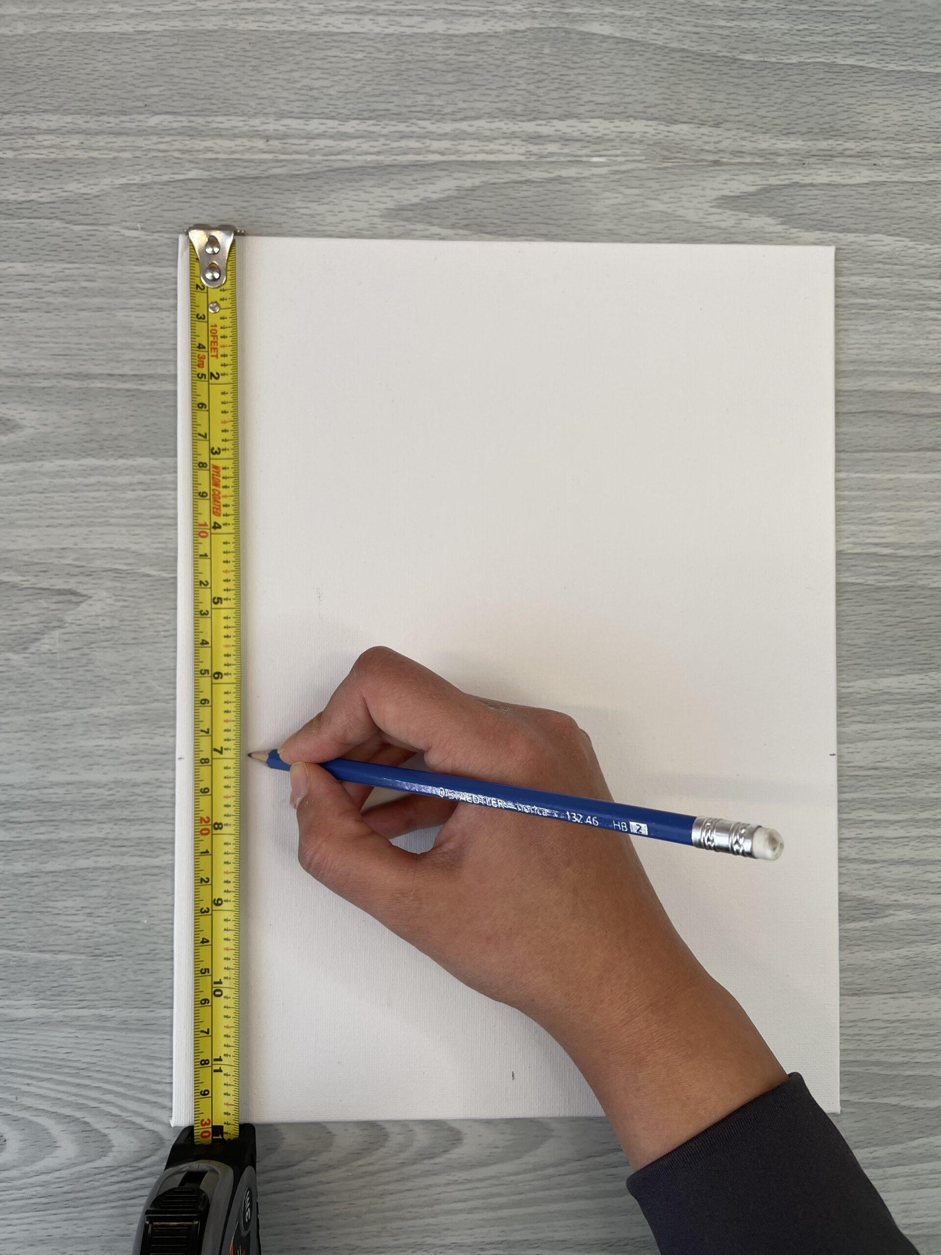 measuring canvas