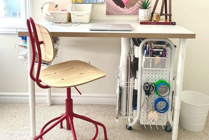 ikea craft table hack