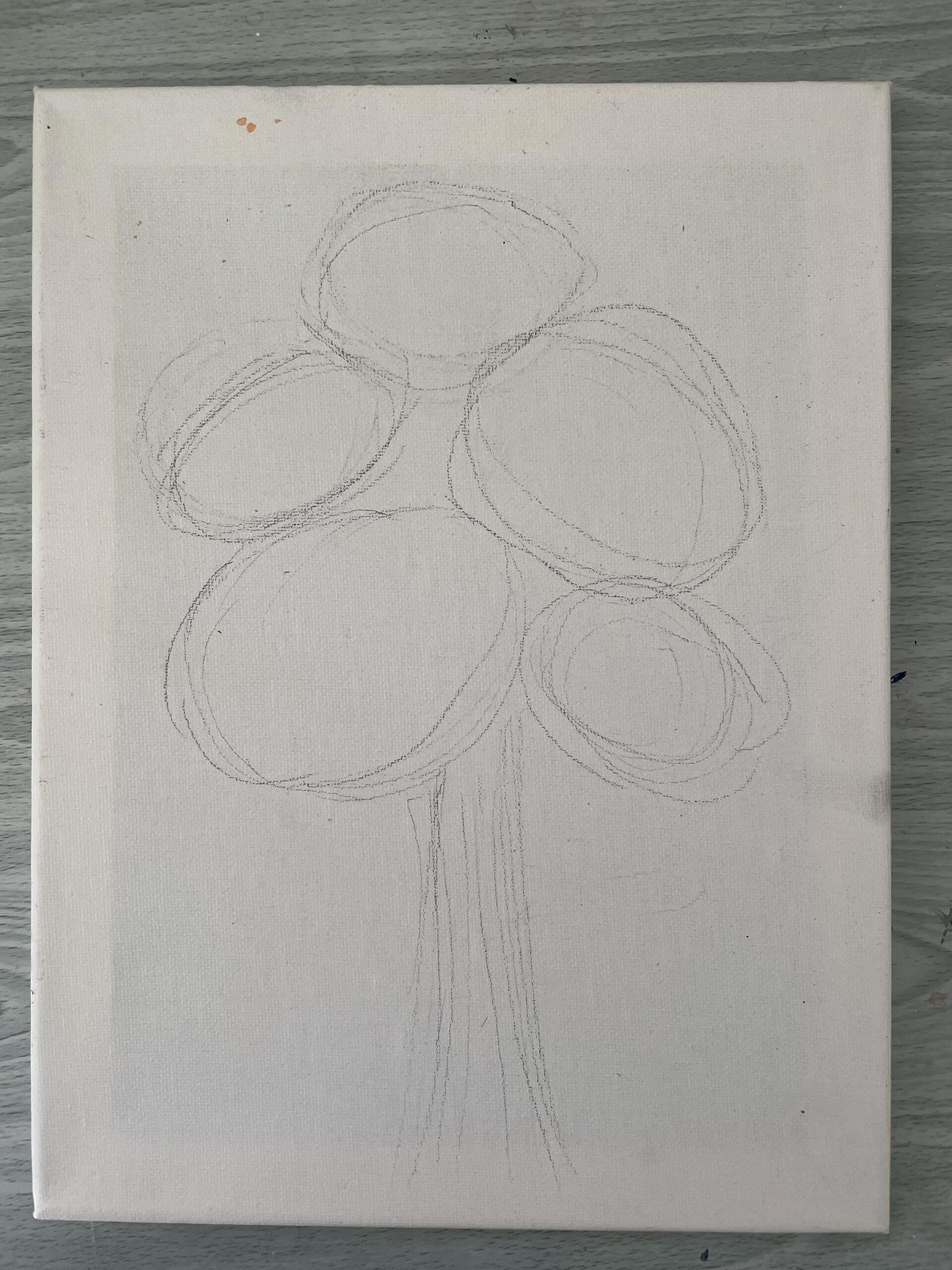 sketch of rose bouquet