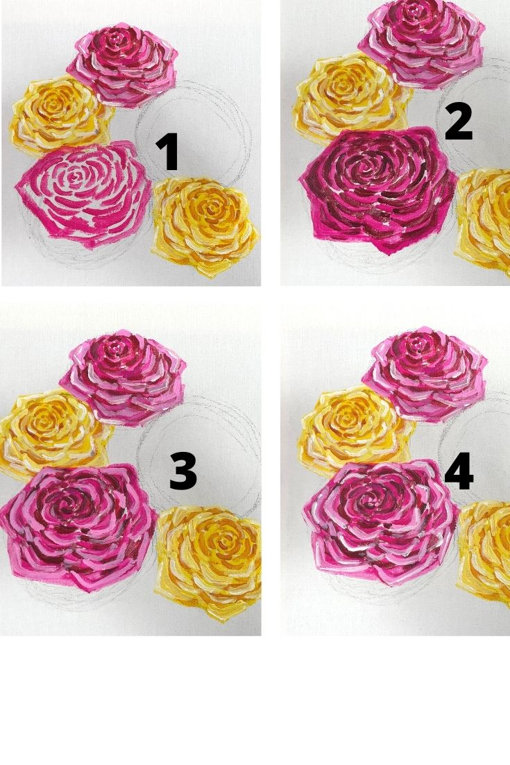how to paint a rose - red (1)