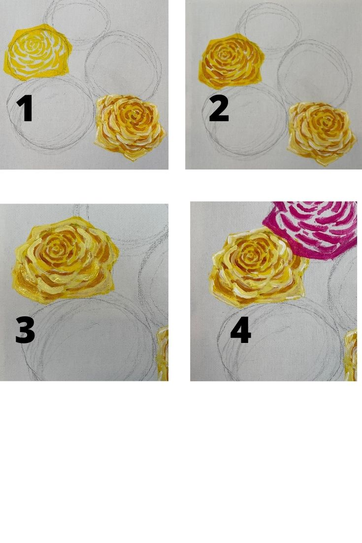 how to paint a rose - yellow (1)