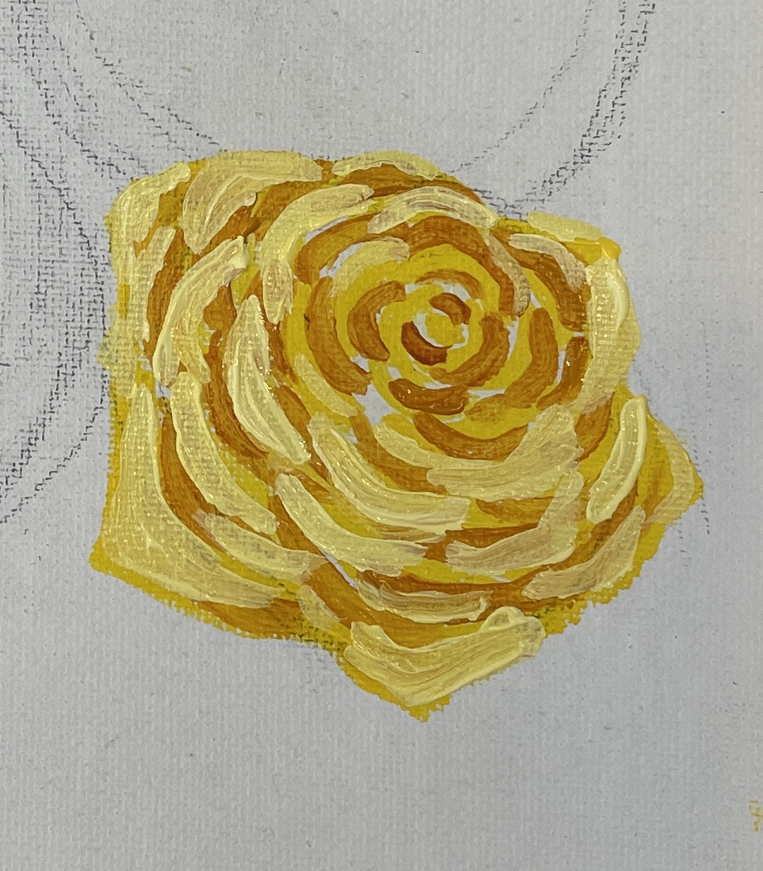 how to paint a yellow rose highlights