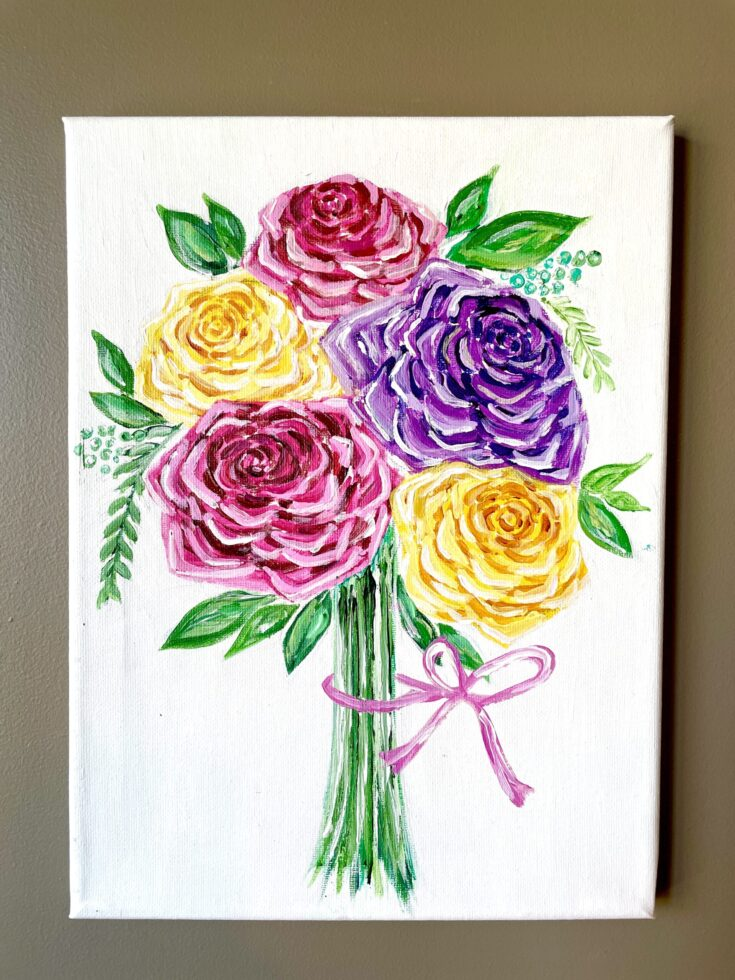 how to paint roses easy