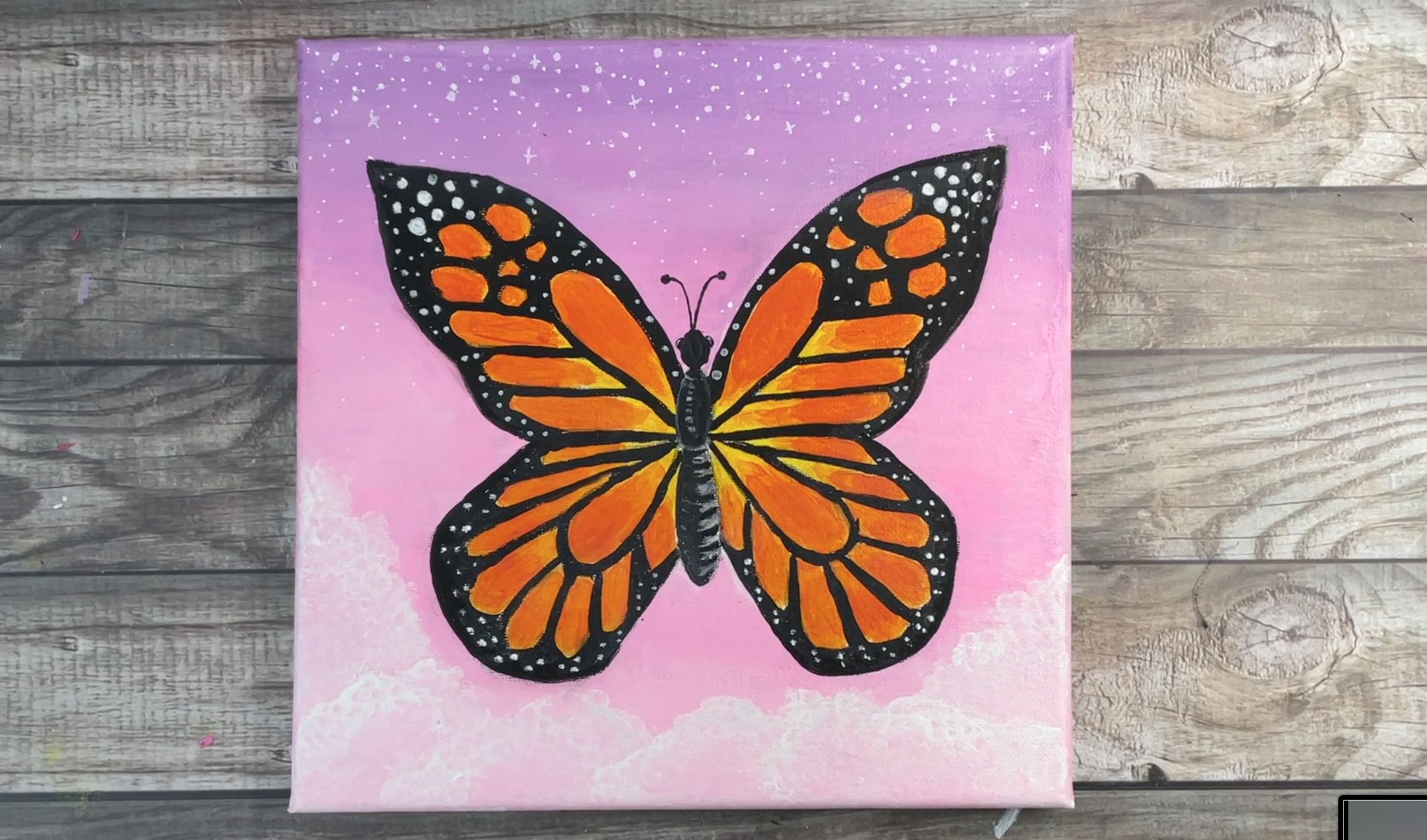 How to paint a butterfly