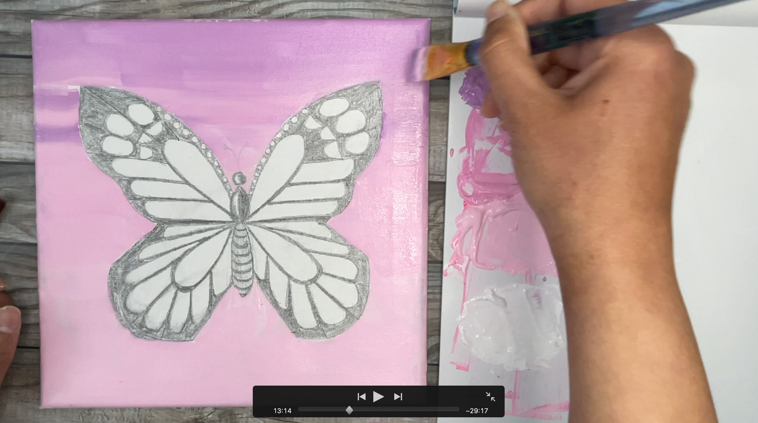 How to paint butterfly aesthetic