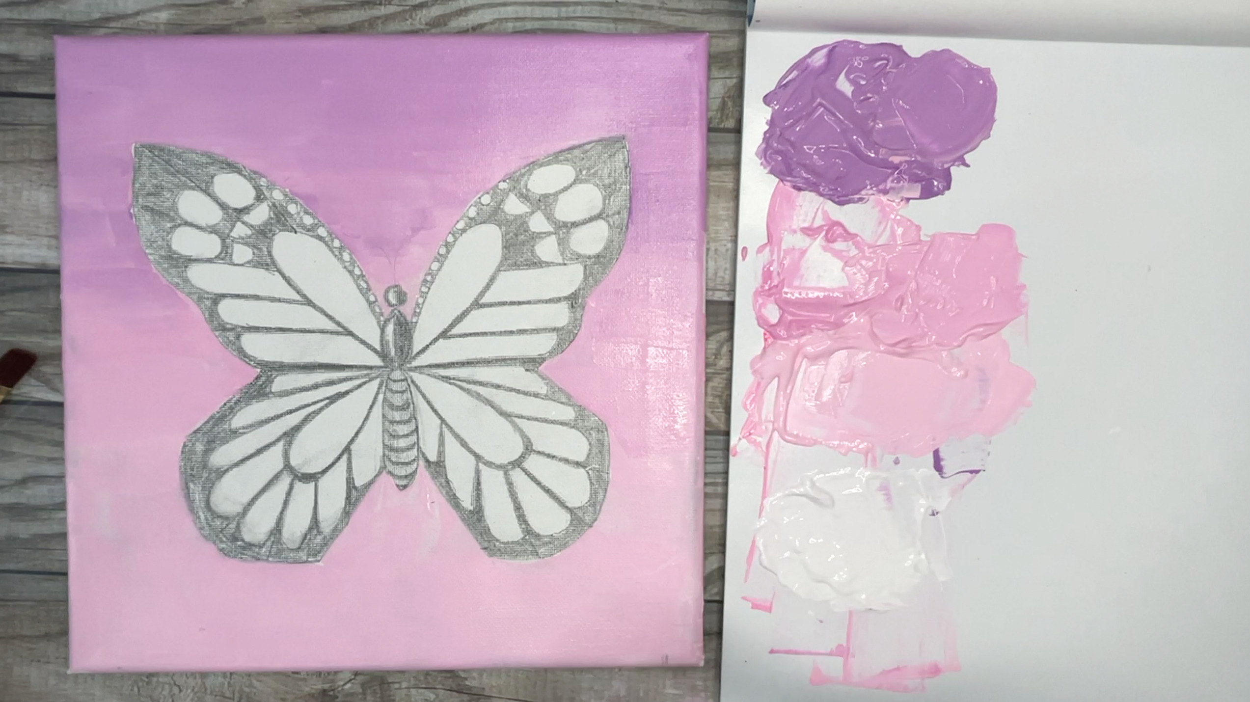 butterfly paintings sunset aesthetic