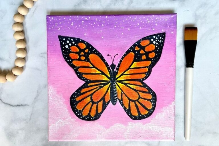 How To Paint a Butterfly – Easy Beginner Tutorial