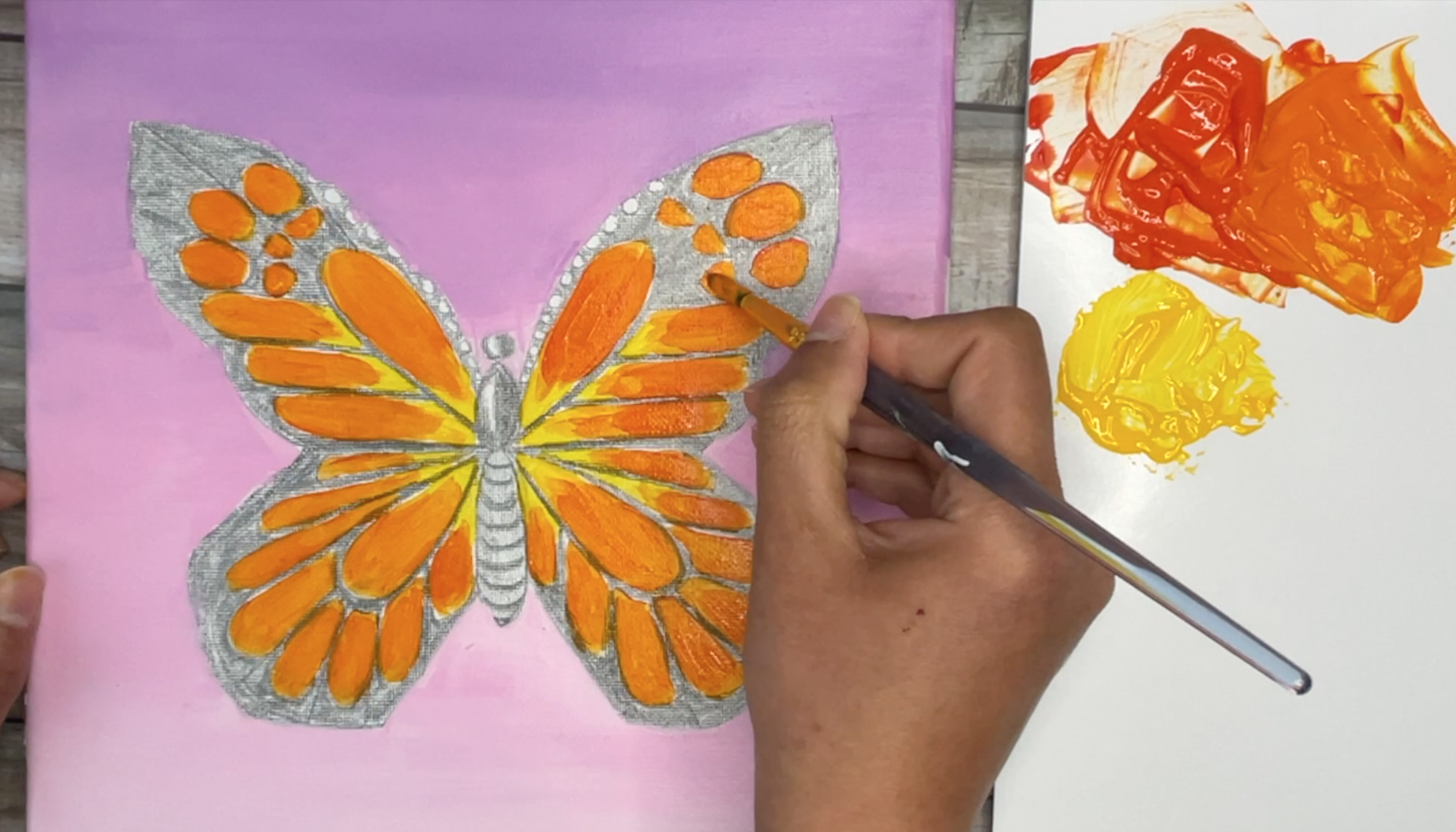 how-to-paint-a-monarch-butterfly