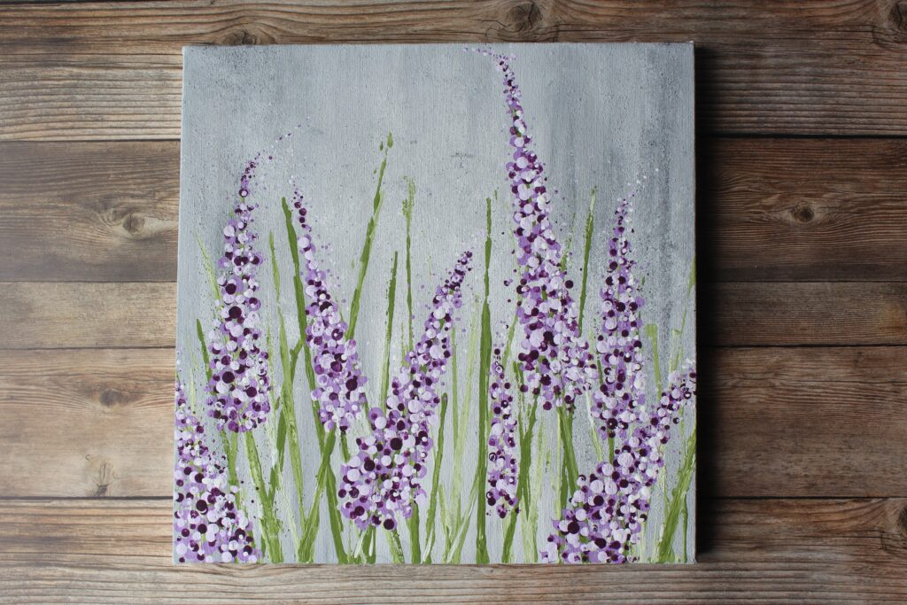 Lilac Bush Acrylic Painting: Easy painting ideas for beginners