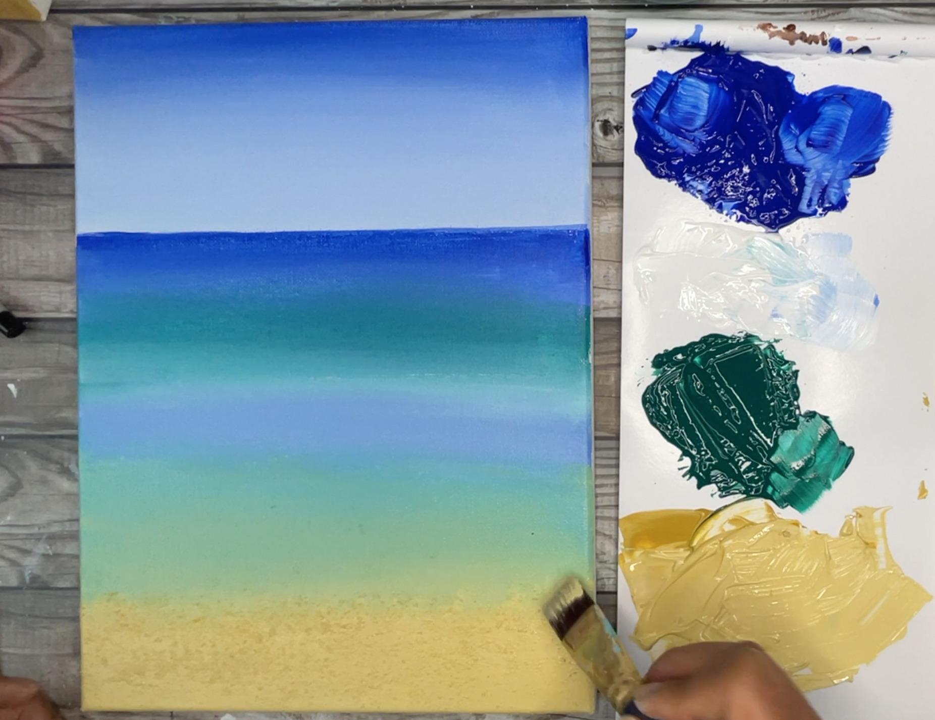 beach painting scenery