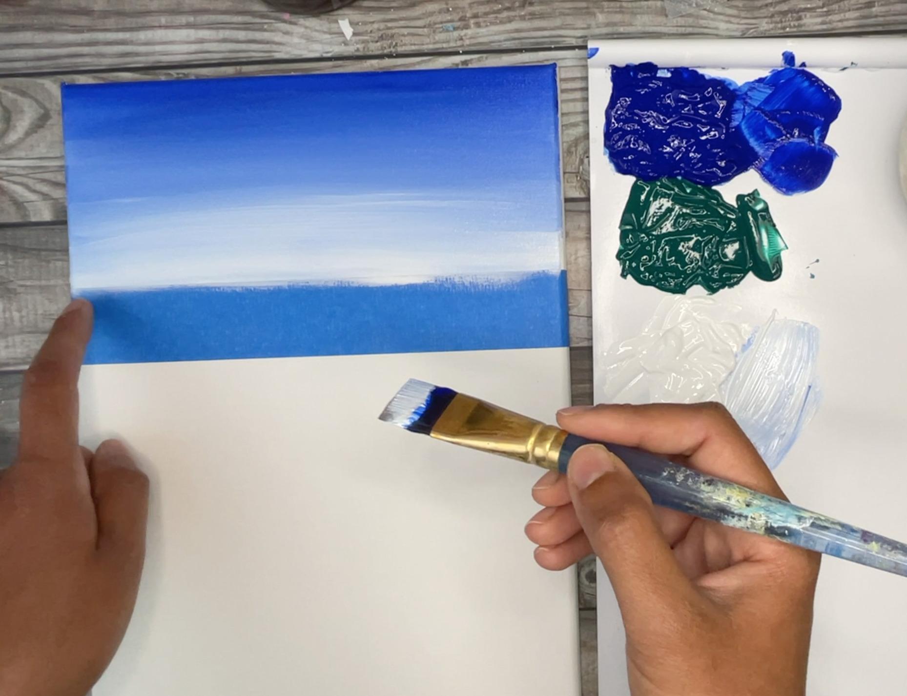 beach painting sky