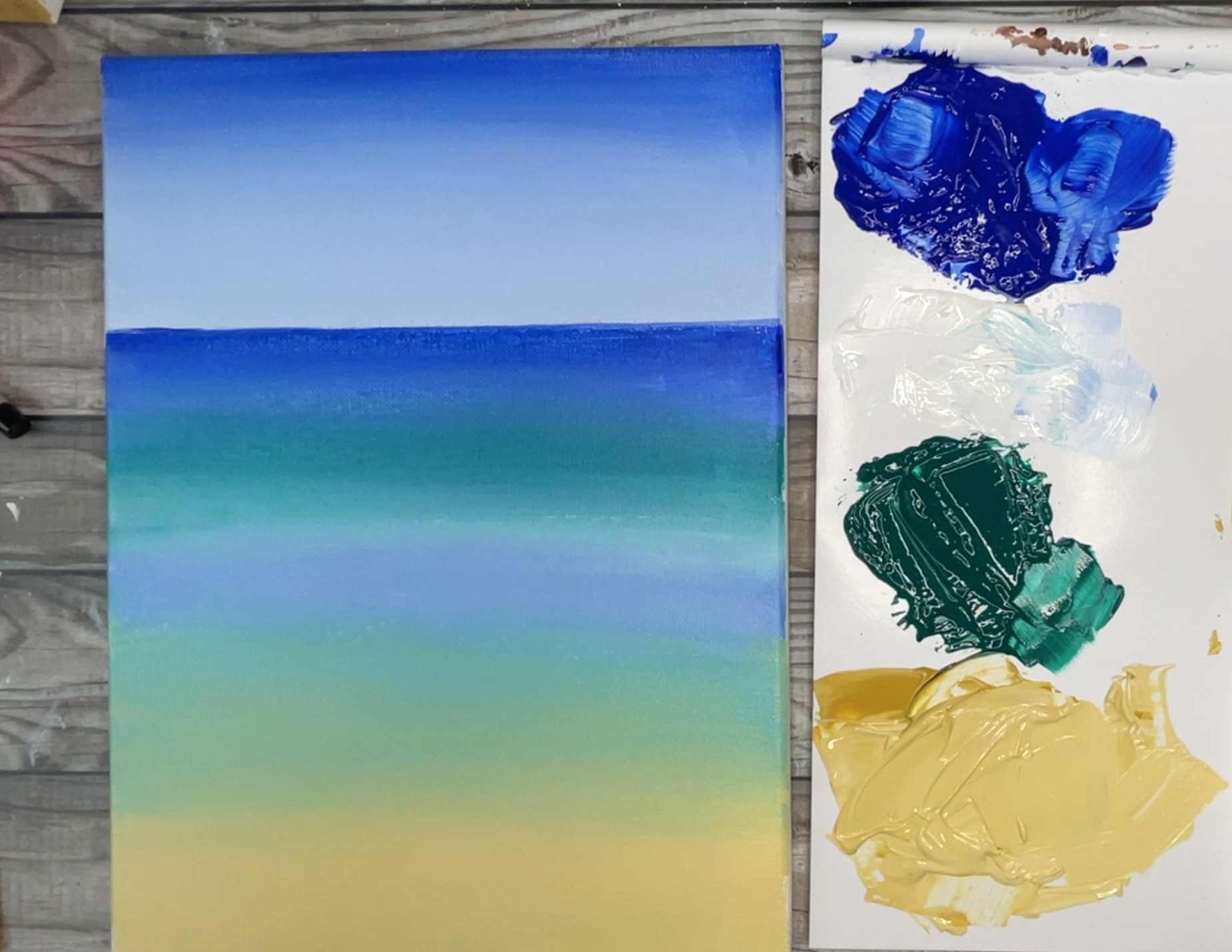 beach painting with sand easy