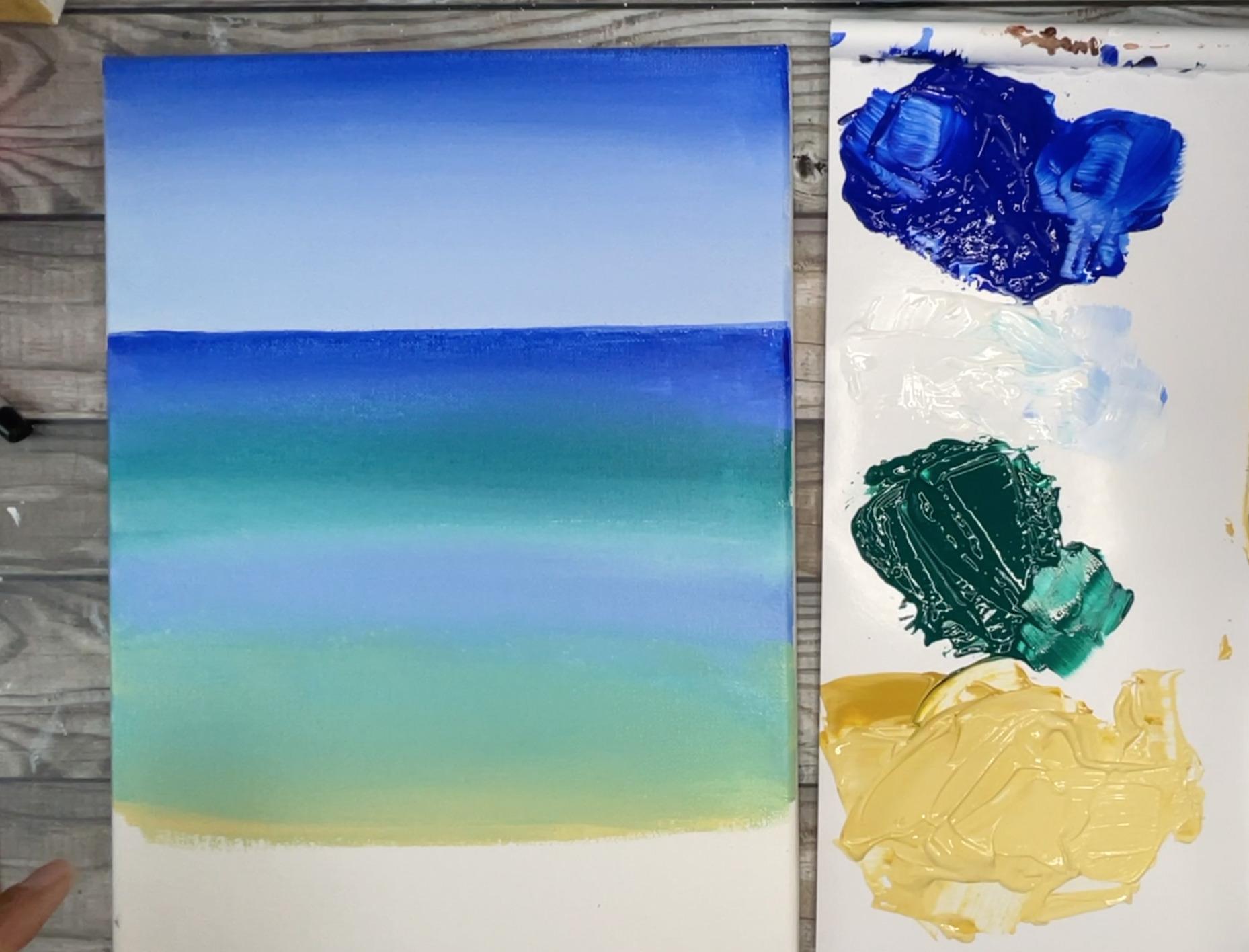 easy beach painting idea