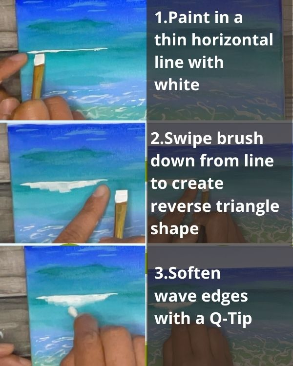 how to paint a wave in 3 steps