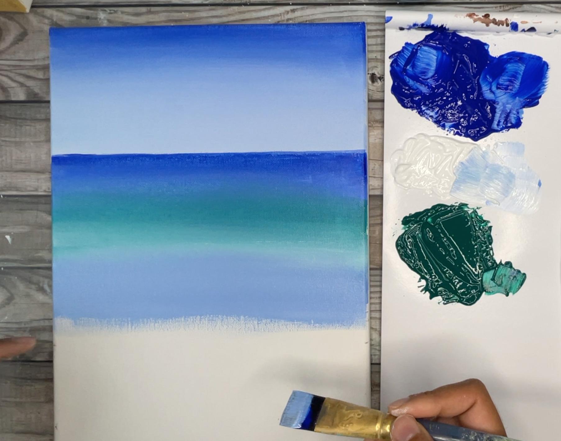 ocean painting easy acrylics
