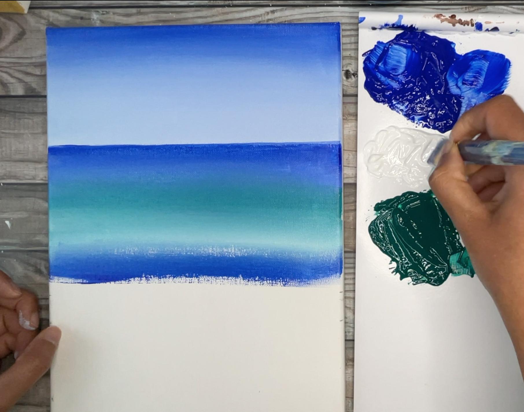 ocean painting step by step