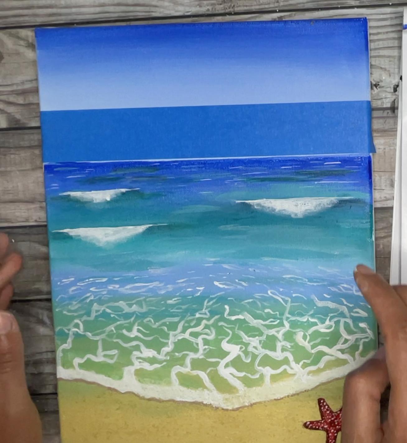 painting a straight horizon trick
