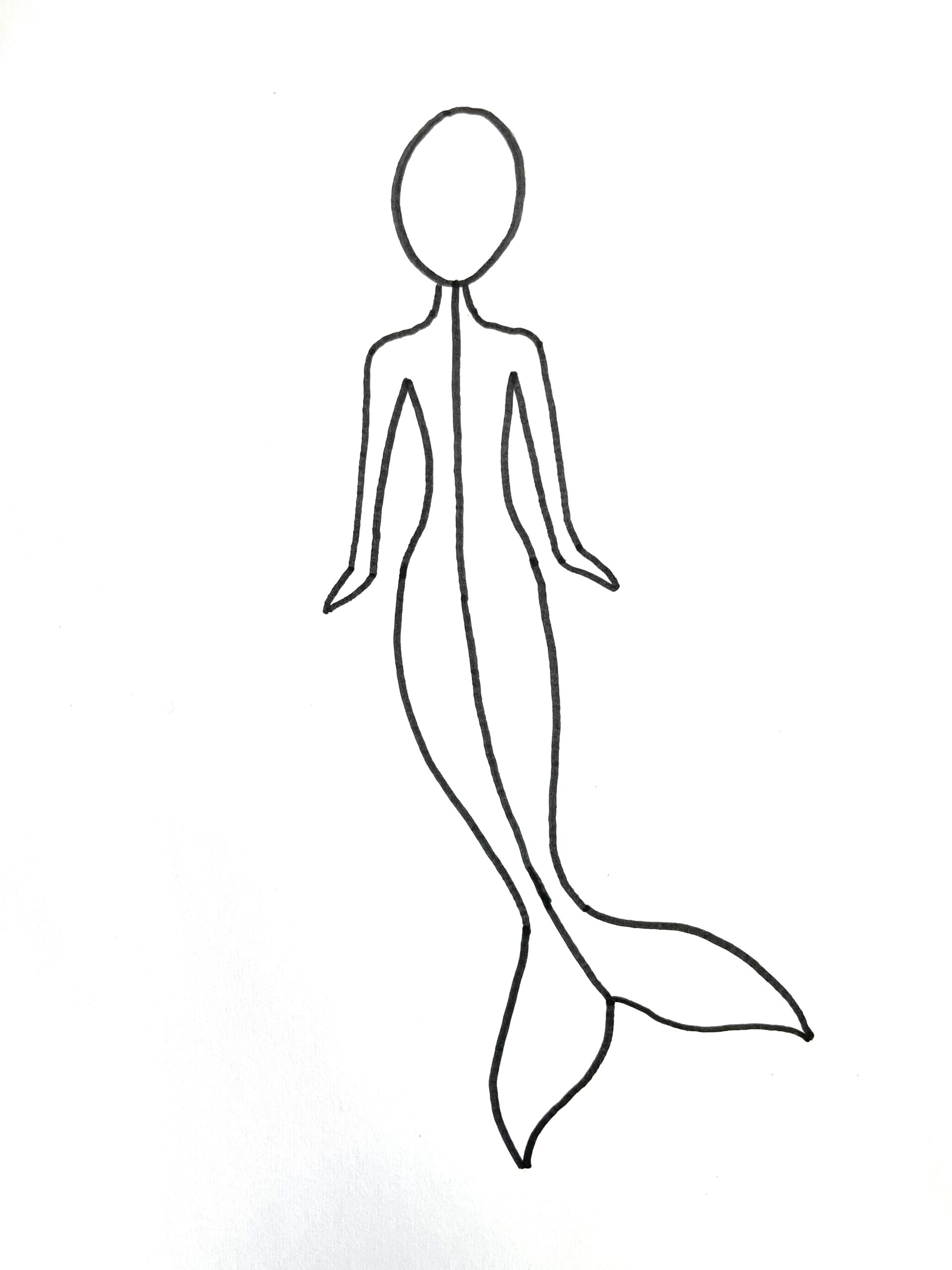 how to draw a mermaid step 10