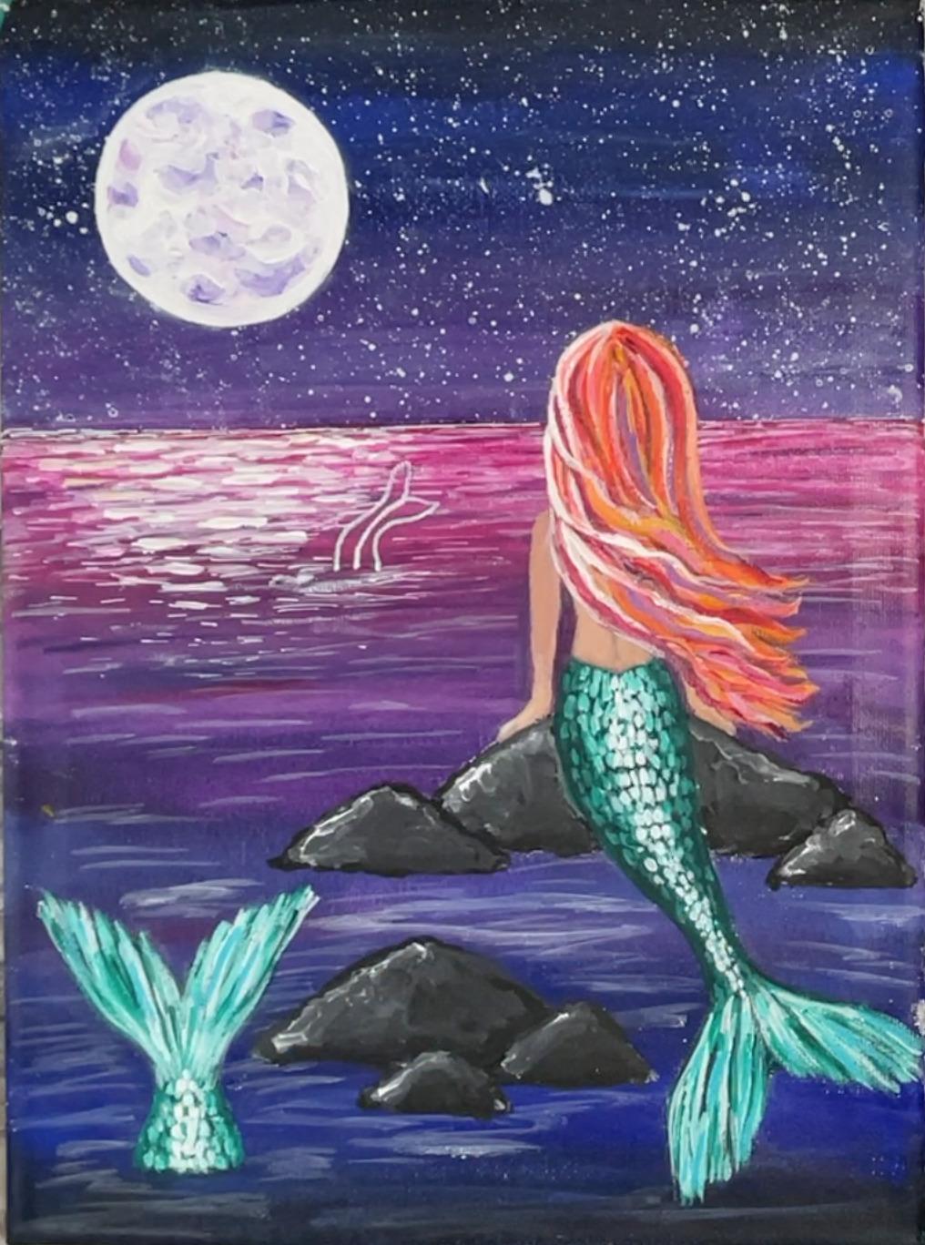 mermaid painting hair 2