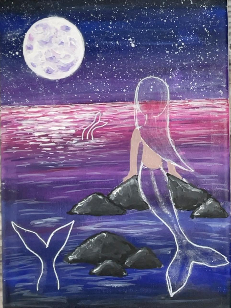 mermaid painting skin color paint