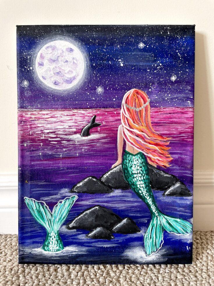 paint a mermaid easy for beginners