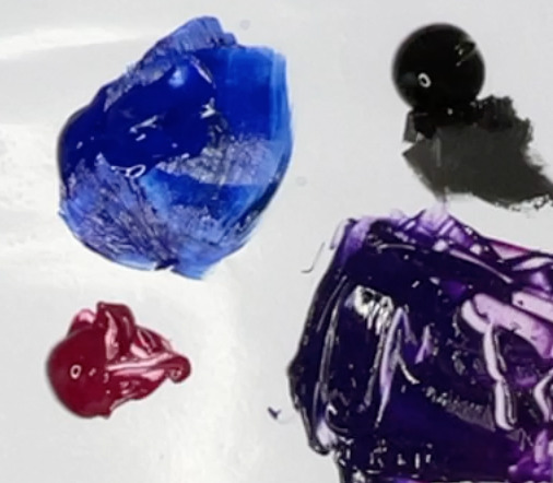 purple acrylic mix