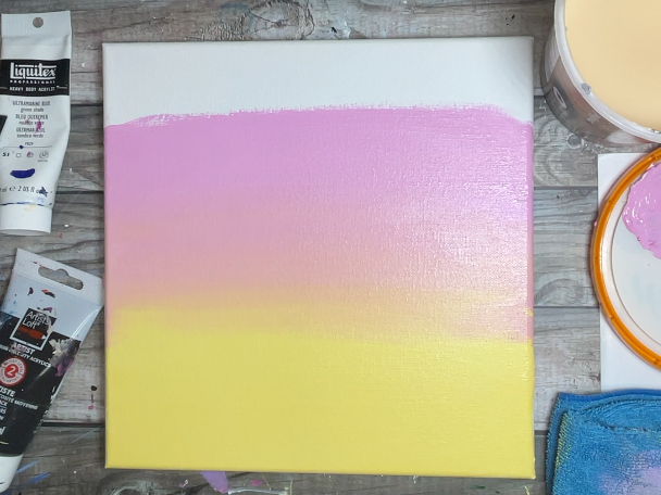 How to paint a sunset sky background