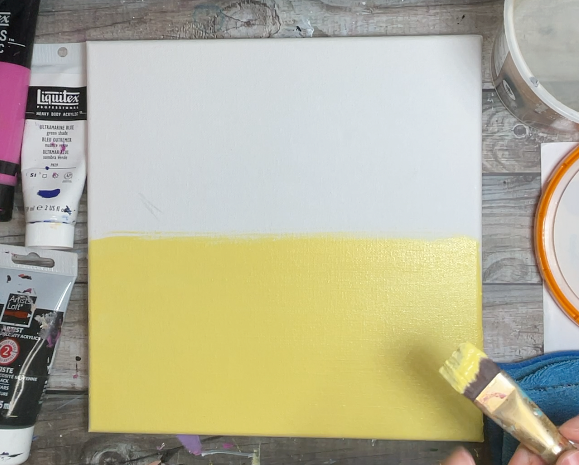 how to paint a sunset sky
