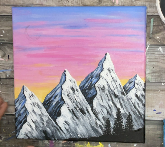 how to paint mountain easy beginner