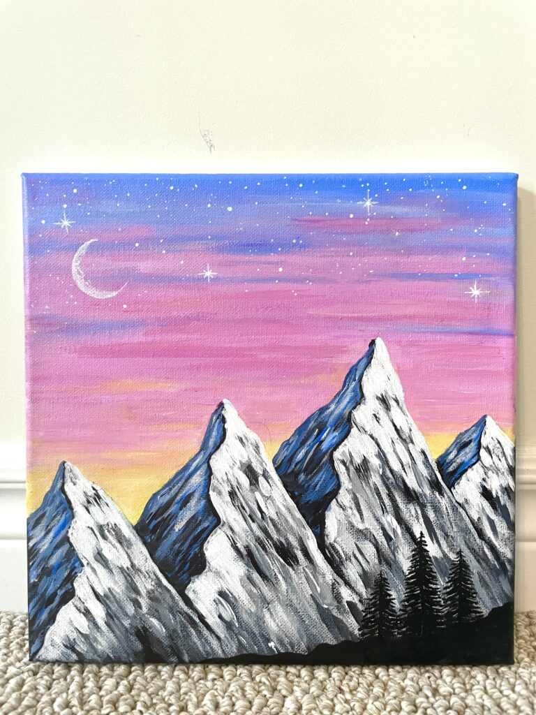 mountain painting easy